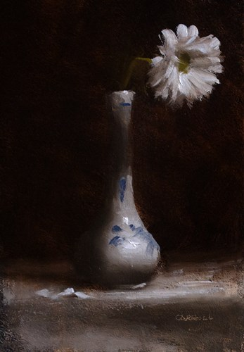"""Chrysanthemum"" original fine art by Neil Carroll"