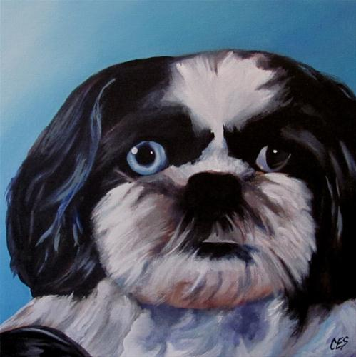 """Buster - Custom Pet Portrait"" original fine art by ~ces~ Christine E. S. Code"
