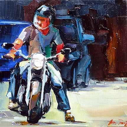 """""""biker"""" original fine art by Jurij Frey"""