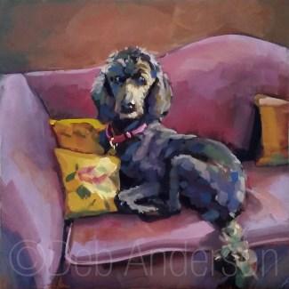 """Oil Painting: Nala"" original fine art by Deb Anderson"