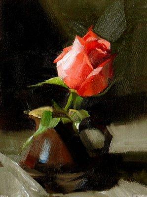 """""""Fervent Romance"""" original fine art by Qiang Huang"""