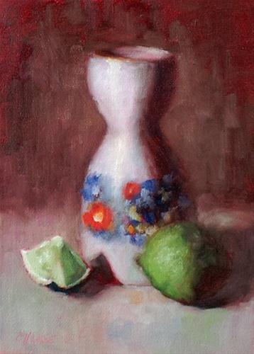 """""""Year of the Lime"""" original fine art by Cindy Haase"""