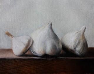 """""""Garlics"""" original fine art by Jonathan Aller"""