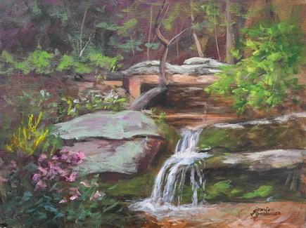 """Autumn Splash"" original fine art by Jamie Williams Grossman"