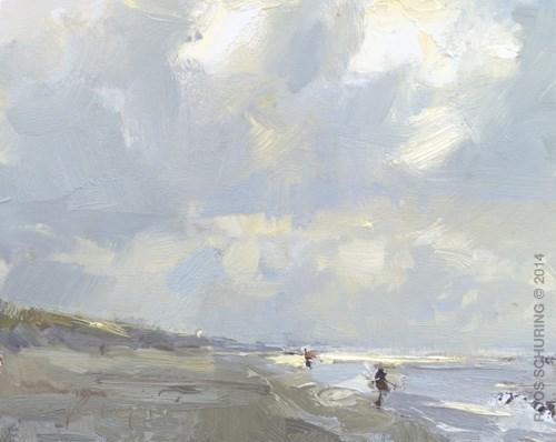 """A line of light"" original fine art by Roos Schuring"