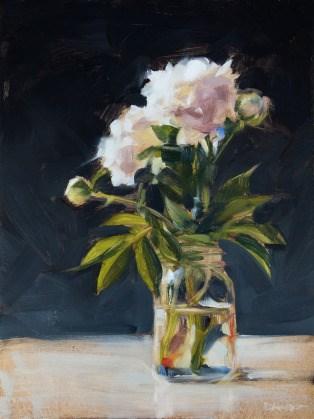 """""""Oil Painting: Peonies in a Jar"""" original fine art by Deb Anderson"""
