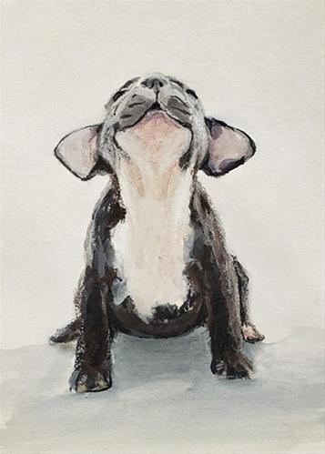 """Baby Howler 2"" original fine art by Sunny Avocado"