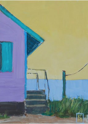 """Day's Cottage... Revisited, 7x5 inch Acrylic Painting by Kelley MacDonald"" original fine art by Kelley MacDonald"