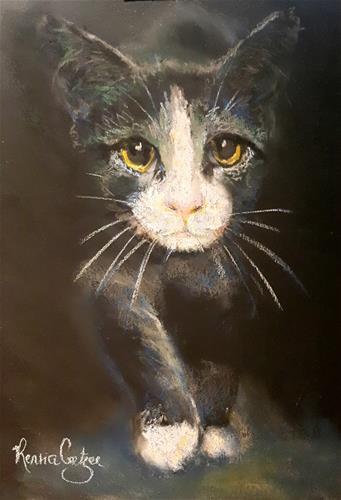 """""""Time for a catnap"""" original fine art by Rentia Coetzee"""