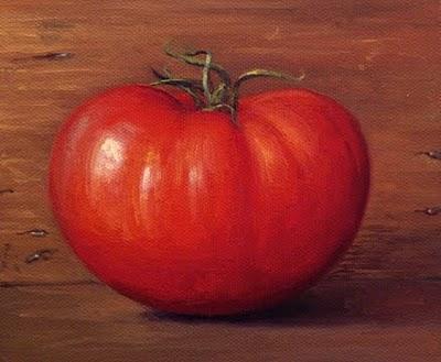 """""""Ripe Tomato"""" original fine art by Abbey Ryan"""