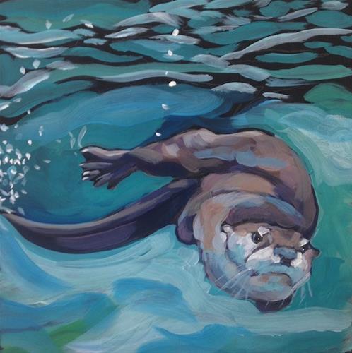 """Earnest TWO"" original fine art by Kat Corrigan"