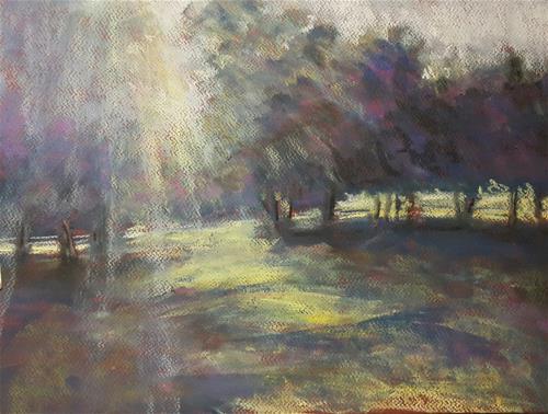 """Magical forest"" original fine art by Rentia Coetzee"
