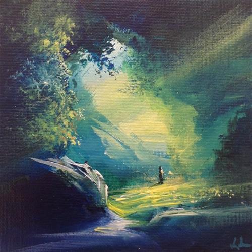 """Walking On"" original fine art by David Kuhn"