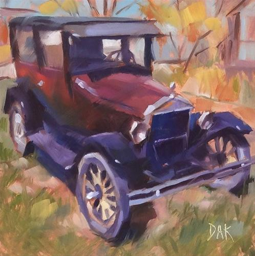 """Antique Ride #2"" original fine art by Deborah Ann Kirkeeide"