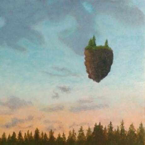 """""""Summer Evening Island"""" original fine art by Staar Caswell"""