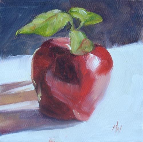 """An Apple A Day"" original fine art by Margie Whittington"