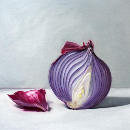 """Purple Onion Half"" original fine art by Lauren Pretorius"