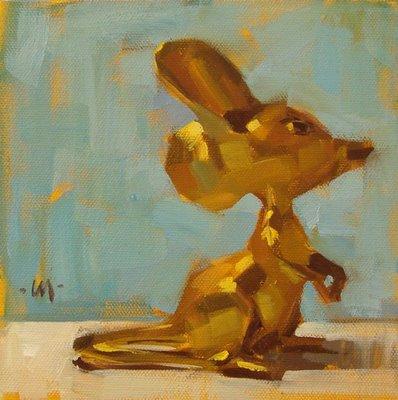 """Adoring Mouse"" original fine art by Carol Marine"