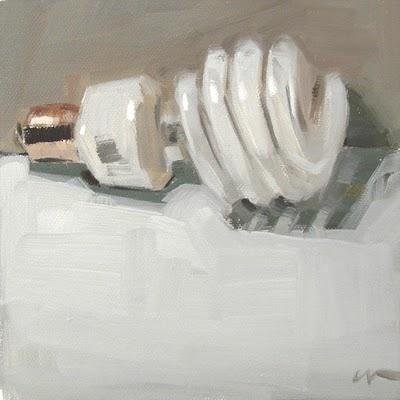 """Lightbulb"" original fine art by Carol Marine"