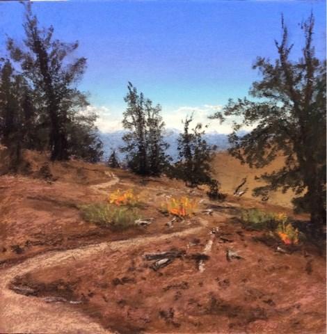 """THE BRISTLECONE PINE TRAIL"" original fine art by Marti Walker"