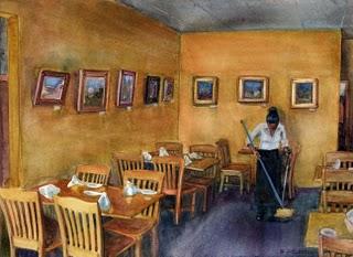 """Watercolor: Gale's (Pasadena)"" original fine art by Belinda Del Pesco"