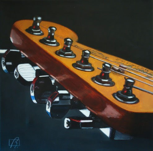 """Australian Fender IV"" original fine art by Andre Beaulieu"
