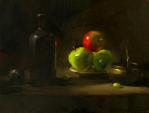 """""""Night"""" original fine art by Qiang Huang"""