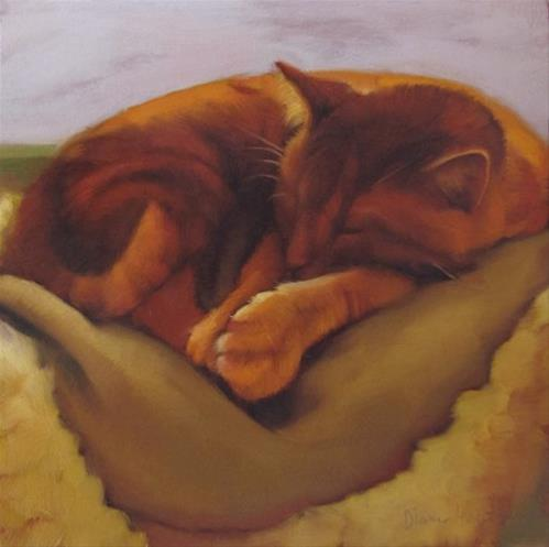 """Deep Slumber"" original fine art by Diane Hoeptner"