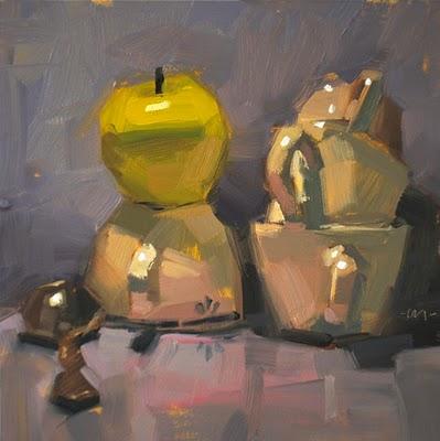 """Healthy Competition"" original fine art by Carol Marine"