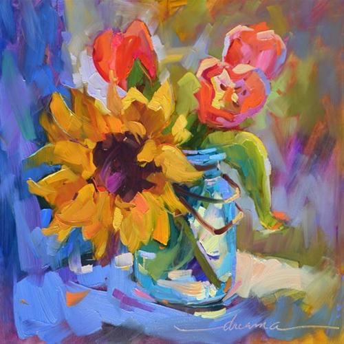 """""""True Blue Friends"""" original fine art by Dreama Tolle Perry"""