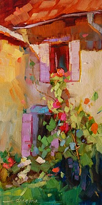 """""""The Light Falls Softly in France"""" original fine art by Dreama Tolle Perry"""