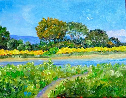 """Baylands, Palo Alto"" original fine art by Patricia Musgrave"