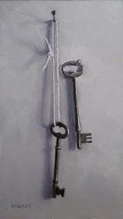 """""""Two Antique Keys"""" original fine art by Michael Naples"""