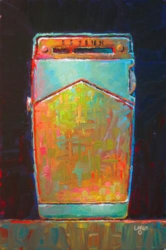 """My General Electric Six Transistor Radio"" original fine art by Raymond Logan"