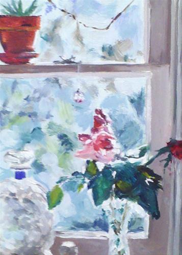 """Looking Out"" original fine art by Linda Lowery"