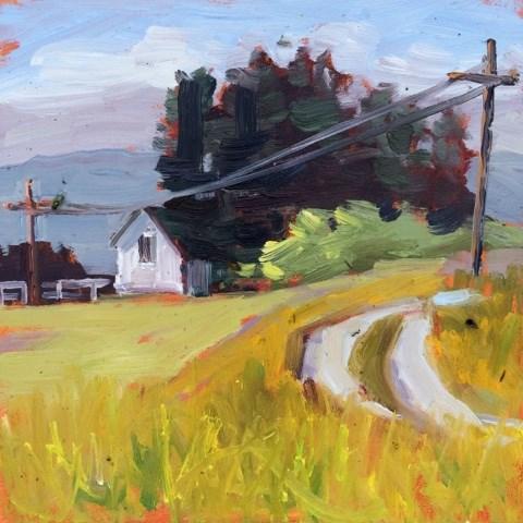 """Montana neighbors"" original fine art by Deborah Newman"