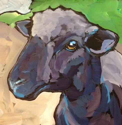 """Baa Baa"" original fine art by Kat Corrigan"