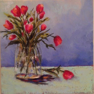 """Day 5 Tulips"" original fine art by Angeli Petrocco Coover"