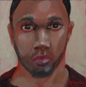 """""""FACE No. 62"""" original fine art by Linda Popple"""
