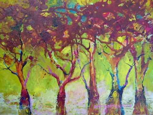 """""""A Walk in the Park"""" original fine art by Amy Whitehouse"""