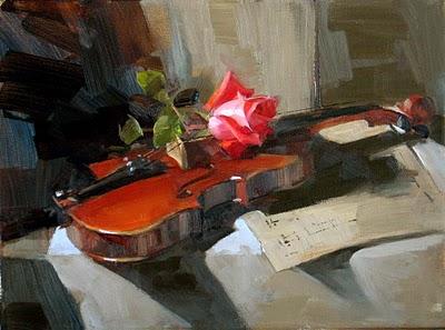 """Rose Concerto 2"" original fine art by Qiang Huang"