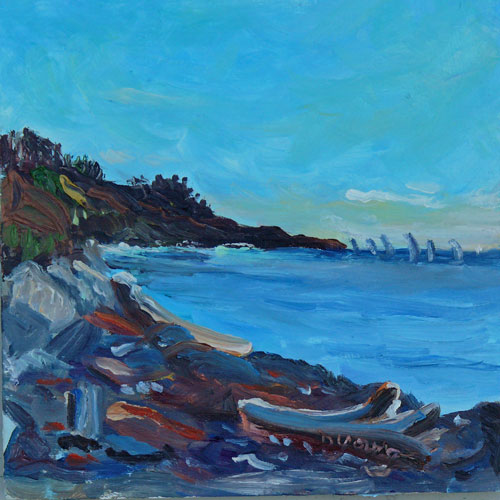 """Cattle Point"" original fine art by Darlene Young"