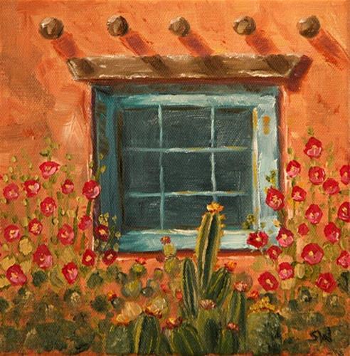 """Santa Fe Blue"" original fine art by Sunny Williams"