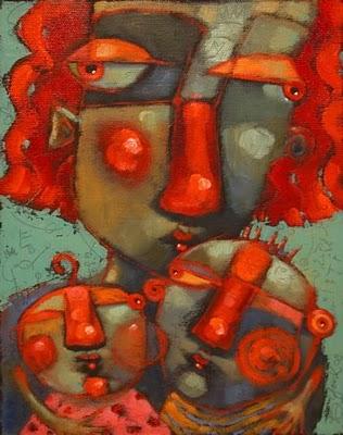 """MomX2"" original fine art by Brenda York"
