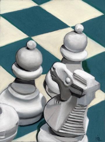 """Knight Moves"" original fine art by Ria Hills"