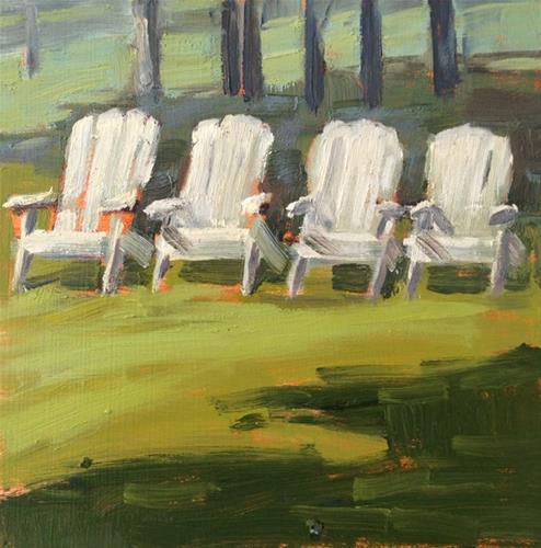 """All in a Row"" original fine art by Deborah Newman"