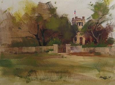 """A Small Museum"" original fine art by Qiang Huang"