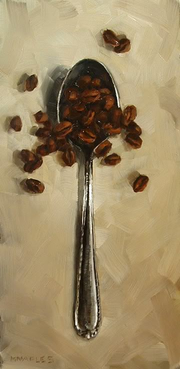 """""""Spoonful of Coffee Beans"""" original fine art by Michael Naples"""
