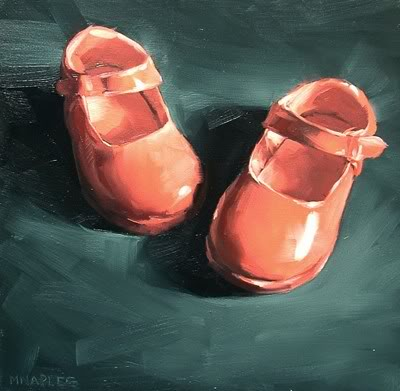 """""""Pink Mary Janes"""" original fine art by Michael Naples"""