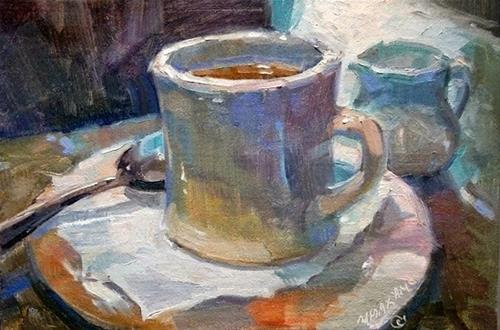 """""""The Perfect Cup"""" original fine art by Mary Maxam"""